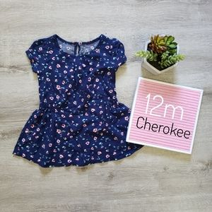 CHEROKEE floral baby girl tunic flowy dress